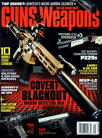Guns & Weapons For Law Enforcement Cover - 12/1/2016
