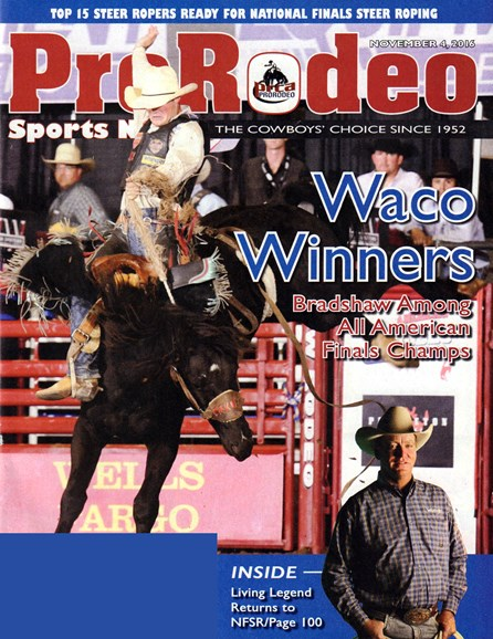 Pro Rodeo Sports News Cover - 11/4/2016
