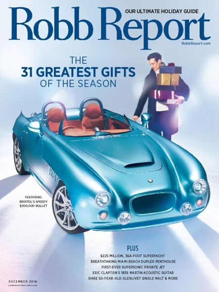 Robb Report Cover - 12/1/2016