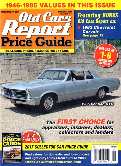 Old Cars Report Price Guide Cover - 11/1/2016