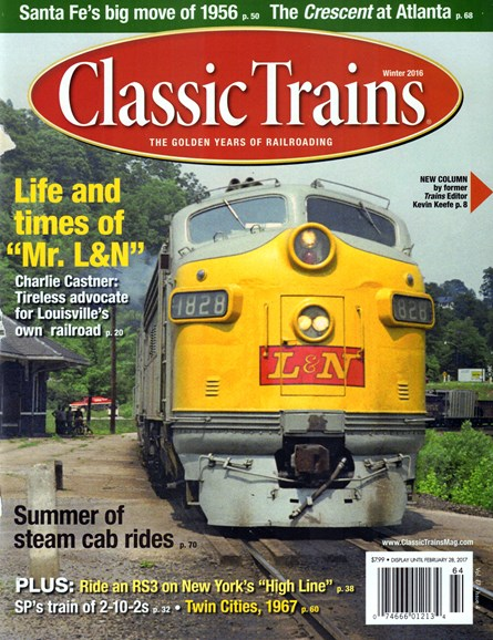 Classic Trains Cover - 12/1/2016