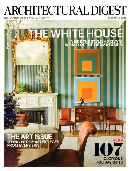 Architectural Digest Cover - 12/1/2016
