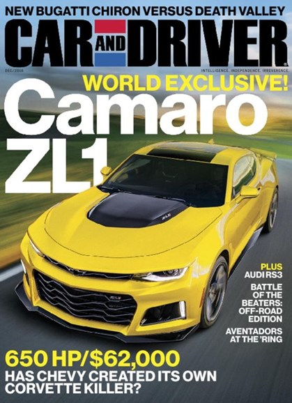 Car And Driver Cover - 12/1/2016