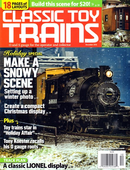 Classic Toy Trains Cover - 12/1/2016