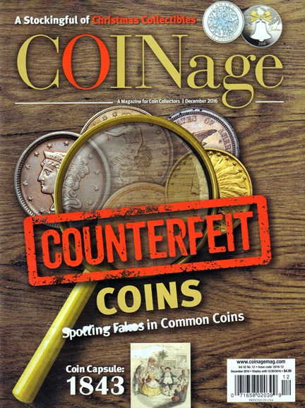 Coinage Cover - 12/1/2016