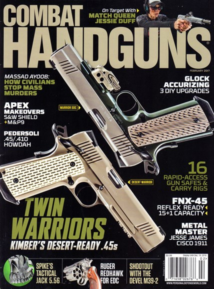 Combat Handguns Cover - 2/1/2017