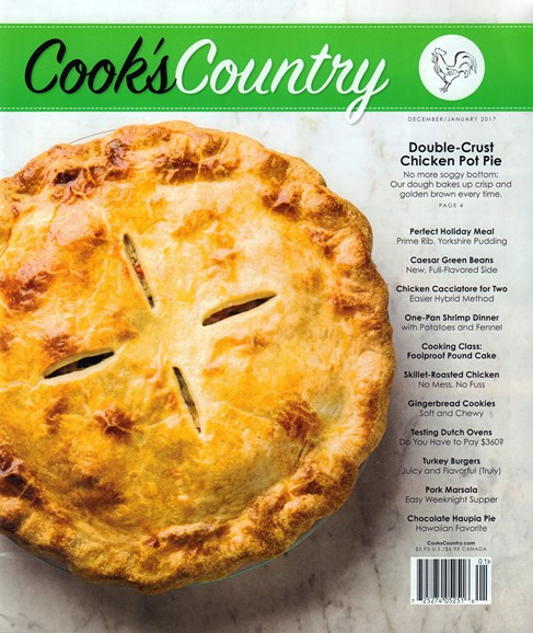 Cook's Country Cover - 12/1/2016