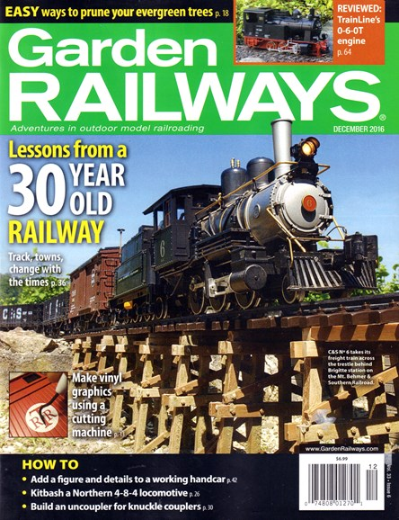 Garden Railways Cover - 12/1/2016
