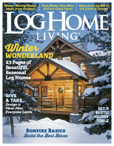 Log Home Living Cover - 12/1/2016