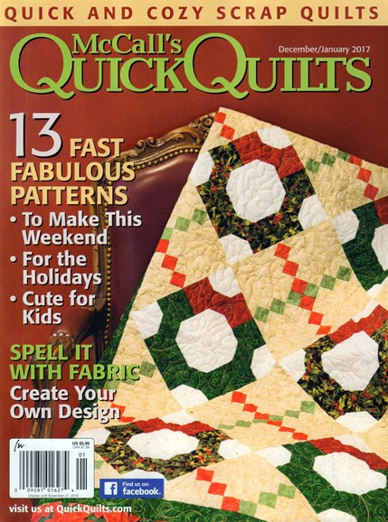 McCall's Quick Quilts Cover - 12/1/2016