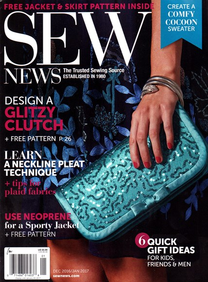 Sew News Cover - 12/1/2016