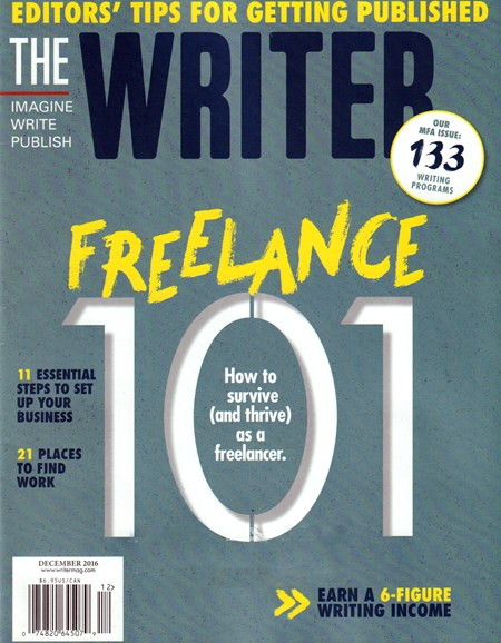 The Writer Cover - 12/1/2016