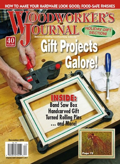 Woodworker's Journal Cover - 12/1/2016