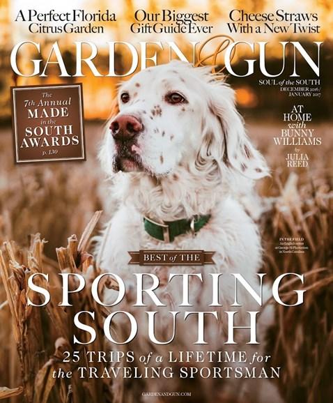 Garden & Gun Cover - 12/1/2016