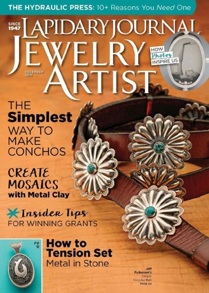 Lapidary Journal Jewelry Artist Cover - 12/1/2016
