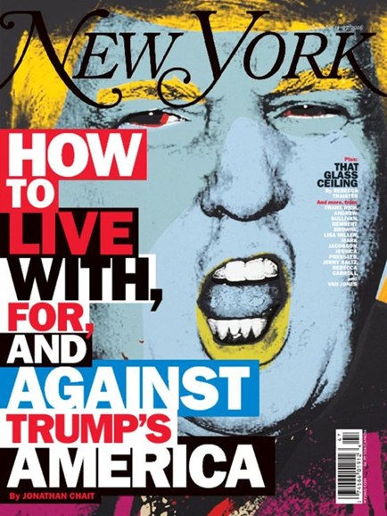 New York Magazine Cover - 11/14/2016