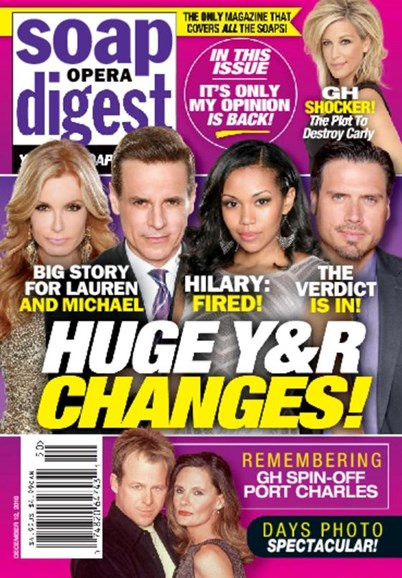 Soap Opera Digest Cover - 12/12/2016