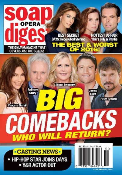 Soap Opera Digest Cover - 12/19/2016