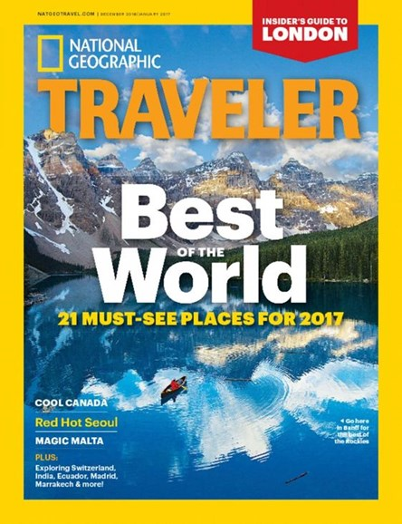National Geographic Traveler Cover - 12/1/2016