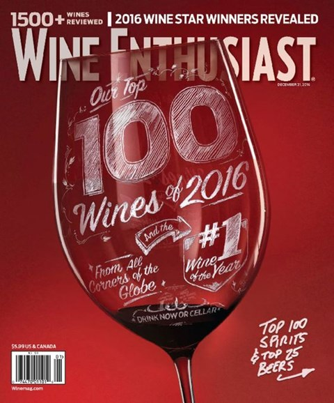 Wine Enthusiast Cover - 12/31/2016