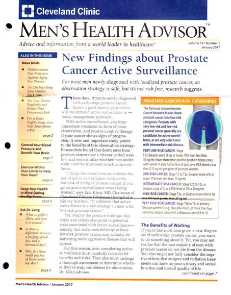 Men's Health Advisor Cover - 1/1/2017