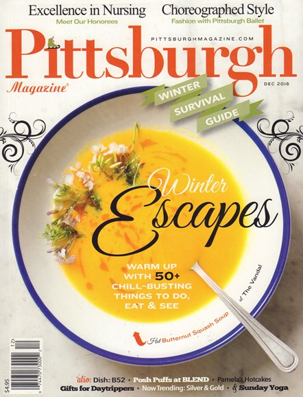 Pittsburgh Magazine Cover - 12/1/2016
