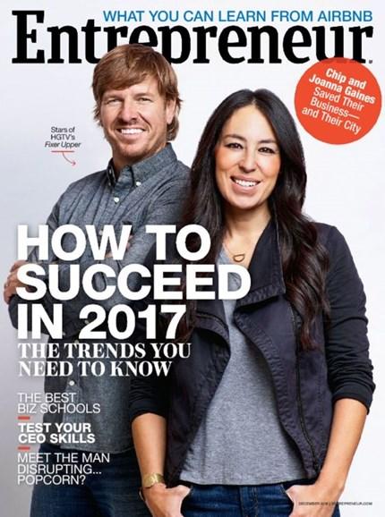 Entrepreneur Cover - 12/1/2016