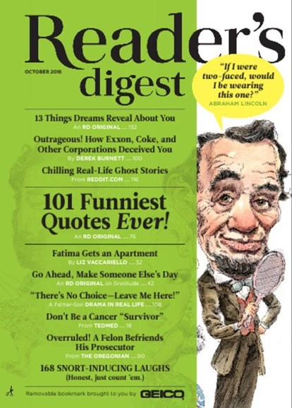 Reader's Digest Cover - 10/1/2016
