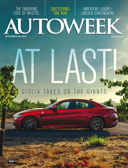 Autoweek Cover - 11/28/2016