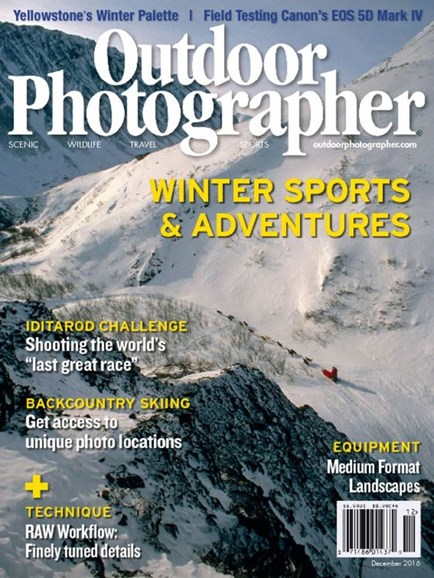 Outdoor Photographer Cover - 12/1/2016