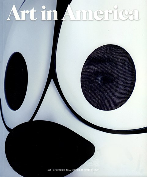 Art In America Cover - 12/1/2016