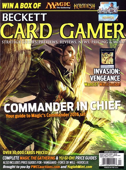 Beckett Card Gamer Cover - 12/1/2016