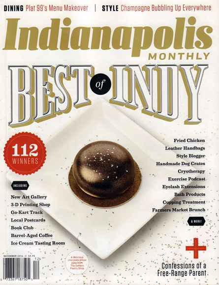 Indianapolis Monthly Cover - 12/1/2016