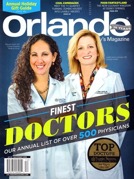 Orlando Magazine Cover - 12/1/2016