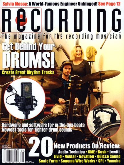Recording Magazine Cover - 1/1/2017
