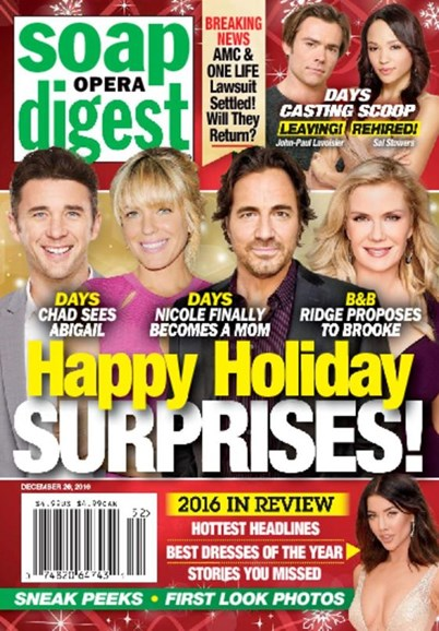 Soap Opera Digest Cover - 12/26/2016