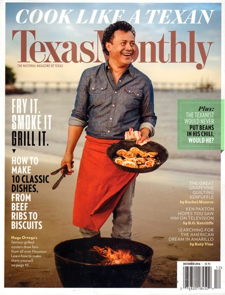 Texas Monthly Cover - 12/1/2016