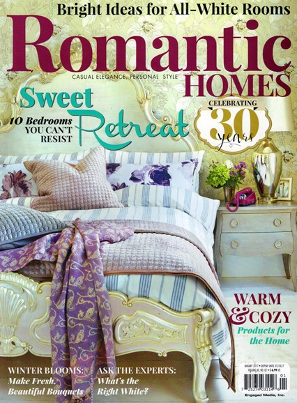 Romantic Homes Cover - 1/1/2017