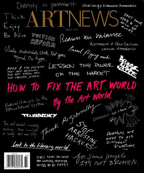 ARTnews Cover - 1/1/2017