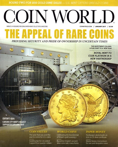Coin World Monthly Cover - 1/1/2017