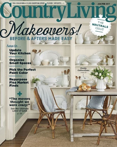 Country Living Cover - 1/1/2017