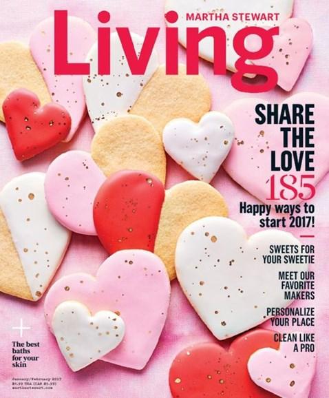 Martha Stewart Living Cover - 1/1/2017