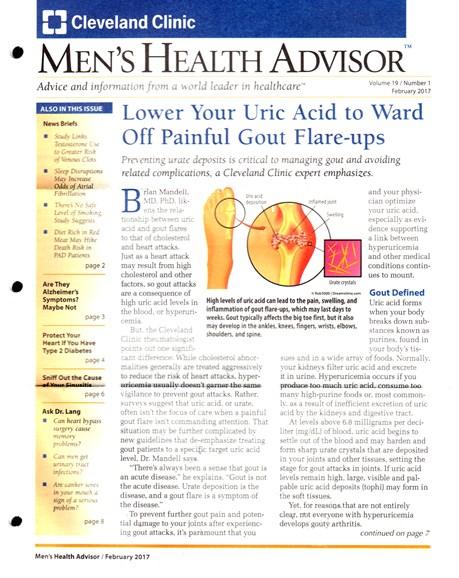 Men's Health Advisor Cover - 2/1/2017