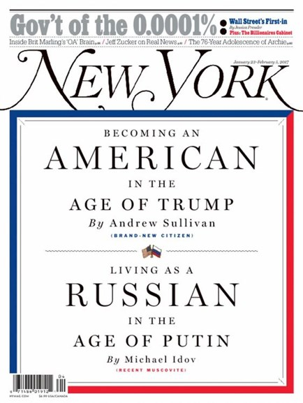 New York Magazine Cover - 1/23/2017