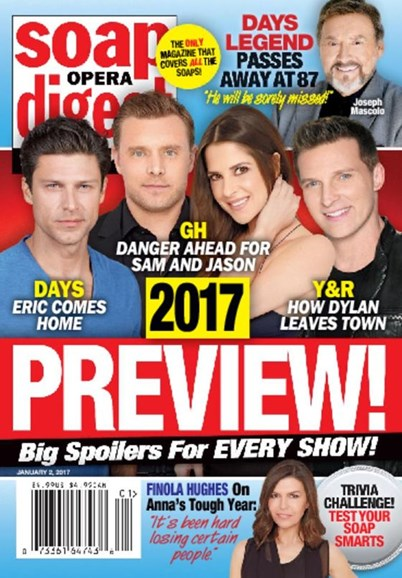 Soap Opera Digest Cover - 1/2/2017