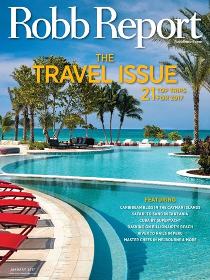 Robb Report Cover - 1/1/2017