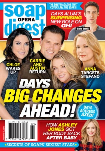Soap Opera Digest Cover - 1/16/2017