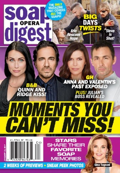 Soap Opera Digest Cover - 1/23/2017