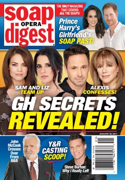 Soap Opera Digest Cover - 1/30/2017