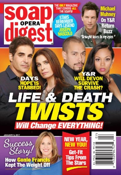 Soap Opera Digest Cover - 1/9/2017